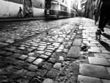 Rue avec tram (Cracovie)