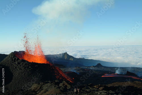Poster Volcano volcan 5