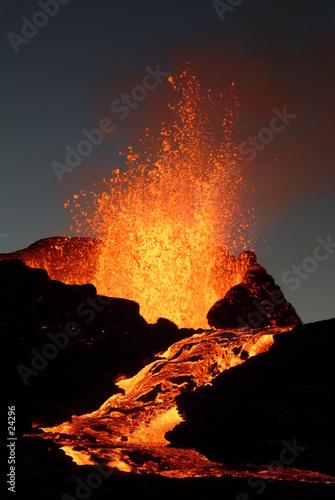Deurstickers Vulkaan volcan 6