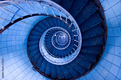 Canvas Prints Spiral escalier de phare