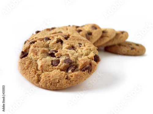 Fotografie, Obraz  chocolate chip cookies 3 (path included)