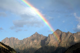 Fototapeta Tęcza - mountain rainbow