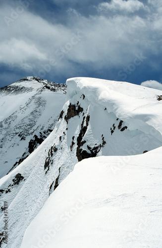 Foto-Vorhang - snowy peak (von Mike & Valerie Mille)