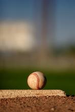 Baseball On Pitcher's Mound