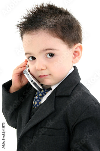 76c49130e adorable baby boy in suit on cellphone - Buy this stock illustration ...