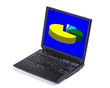 canvas print picture - laptop displaying a pie chart