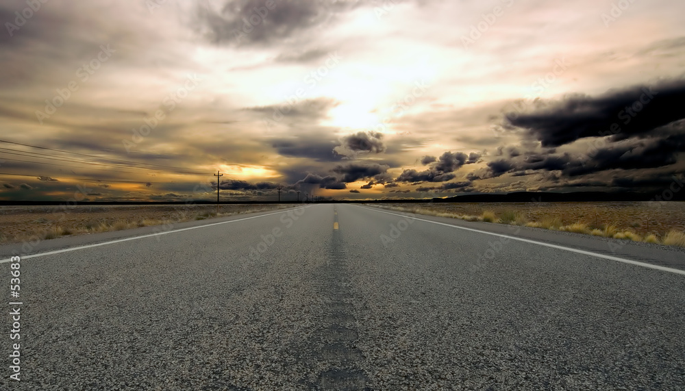 Fototapeta the road forward
