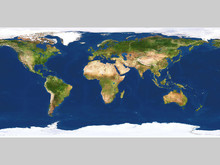 Real Looking Earth Map
