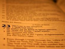 Open Bible, 23 Psalm In Focus