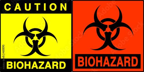 Photo biohazard warning series