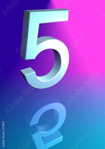 5 on blue Canvas Print