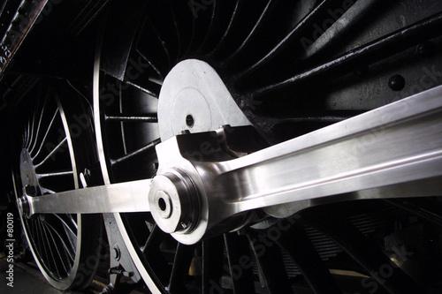 Obraz na plátně steam train wheels