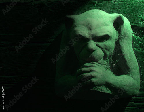 green gargoyle Wallpaper Mural