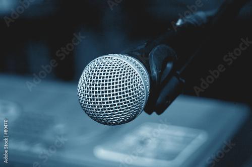 Fotografia, Obraz  microphone clouse-up