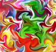 canvas print picture - paint ball art