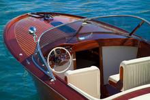 Wooden Luxury Tender At Monaco