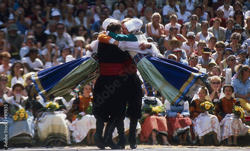 Leinwand Poster danse folklorique en bretagne