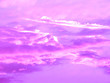Leinwandbild Motiv pink clouds