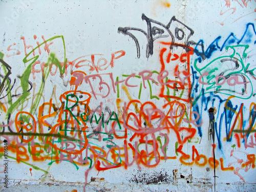 graffiti sprayed on a wall © Serg Zastavkin