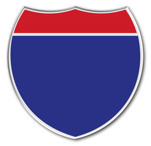 Blank Interstate Sign