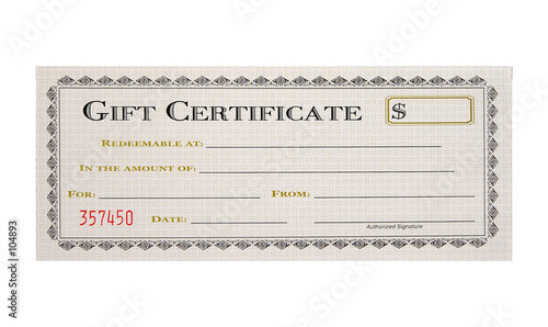 Photo  gift certificate
