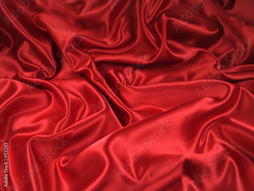 Fototapeta red satin fabric [landscape] obraz