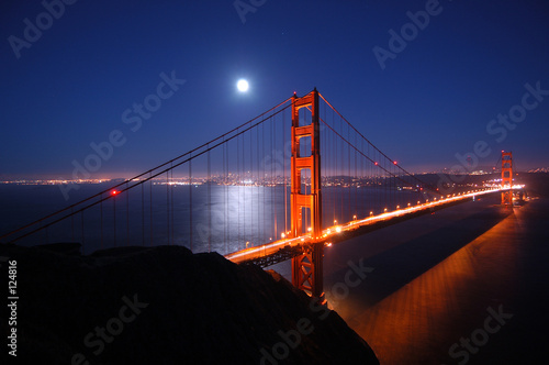 Fotobehang San Francisco golden gate at night