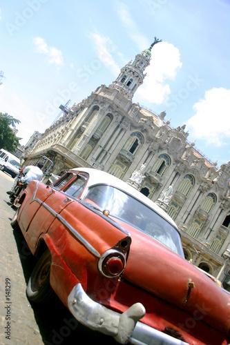 Deurstickers Cubaanse oldtimers habana vieja
