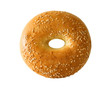 canvas print picture - bagel with sesame seeds