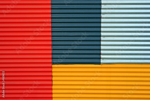 Fotomural corrugated iron