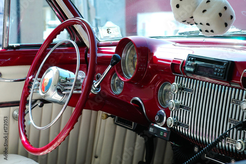 Photo  classic car interior