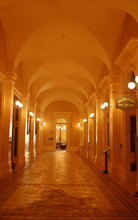 Hallway In The California State Capitol