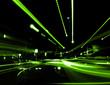 Leinwandbild Motiv abstract street