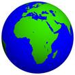 canvas print picture - earth globe