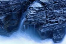 Waterfall In Moonlight