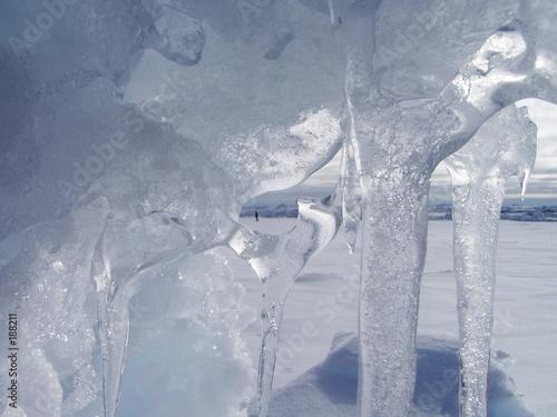 Deurstickers Poolcirkel icicle