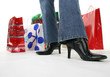 canvas print picture - holiday shopper