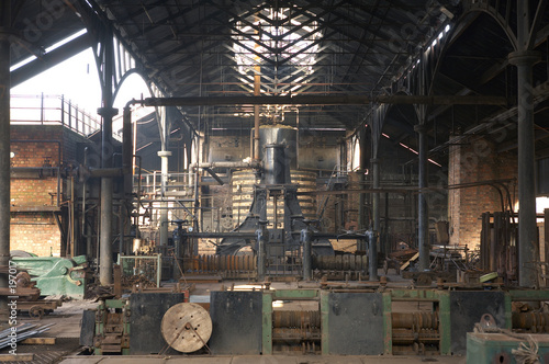 interior of old factory