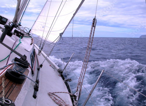 Cadres-photo bureau Voile sailing with wind in the ocean