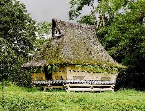 traditional batak house in sumatra Wallpaper Mural