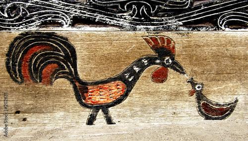 batak's house ornament in sumatra Canvas Print