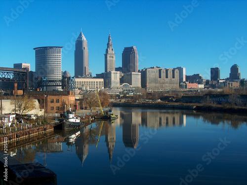 Fotografie, Obraz  cleveland, ohio skyline