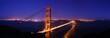 canvas print picture - golden gate bridge panorama