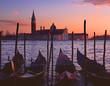 canvas print picture - gondolas by saint georgio 2