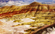 canvas print picture - painted hills 4