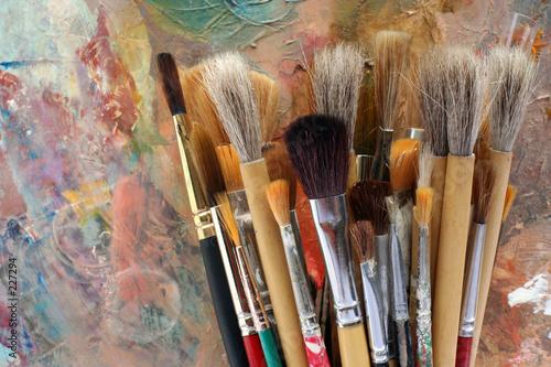 Fotomural brush selection