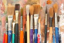 Art Paint Brushes & Palette