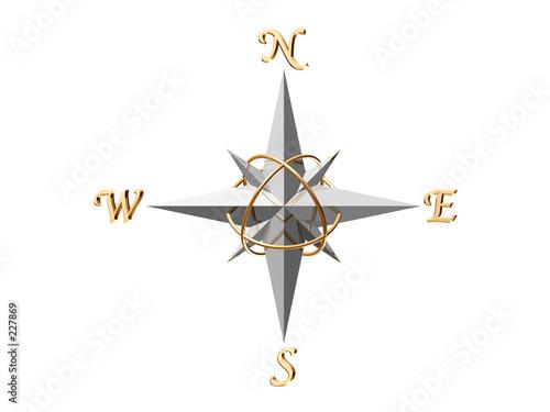 Carta da parati silver compass