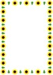 canvas print picture yellow flower border