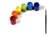 canvas print picture - colored paints